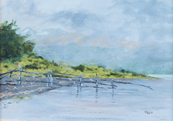 Puerto Williams Fence (Plein Air)