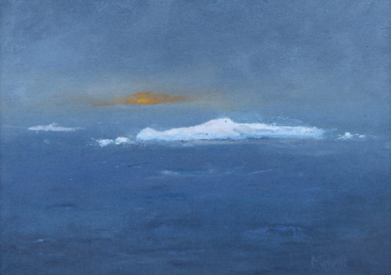 Iceberg at Sunset (Plein Air)